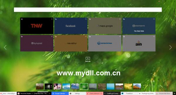 Yandex浏览器标签