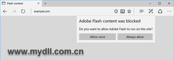 是否允许运行Flash