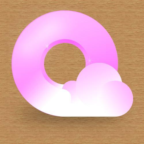 粉色的QQ浏览器logo