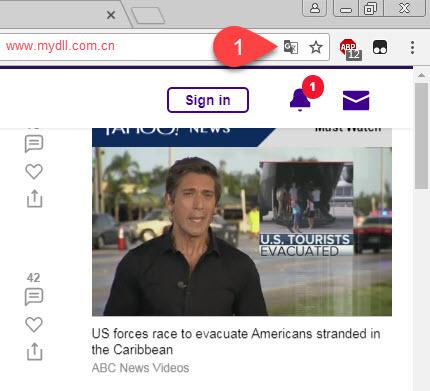 Chrome翻译网页按钮所在位置