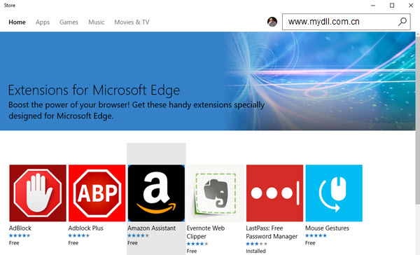 Edge浏览器扩展程序