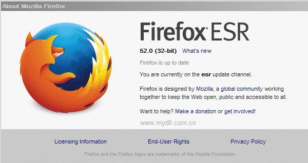 Firefox 52 ESR版