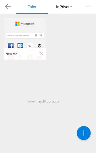 安卓版Edge浏览器新建标签页
