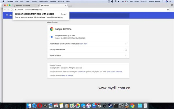 Google Chrome 62 Mac版