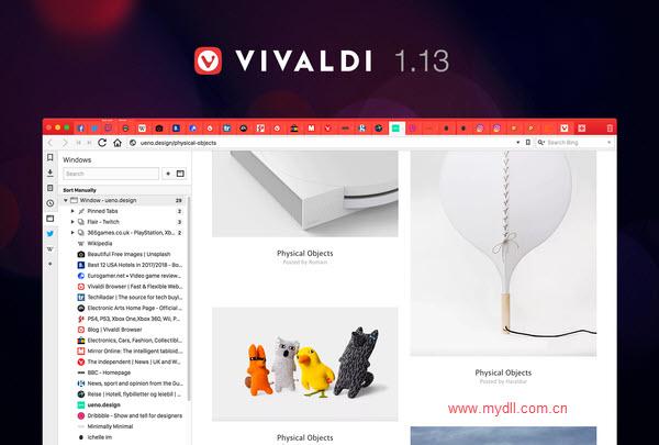 1.13版Vivaldi浏览器