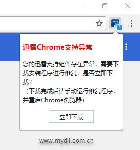 迅雷Chrome支持异常