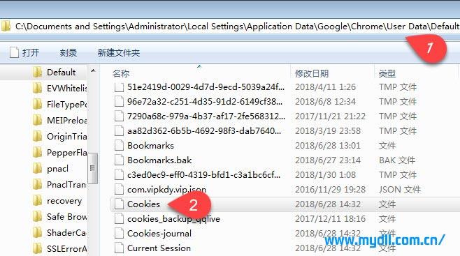 Chrome Cookie文件