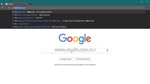 浏览器地址栏中的网址