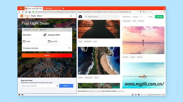 Vivaldi浏览器分屏浏览模式