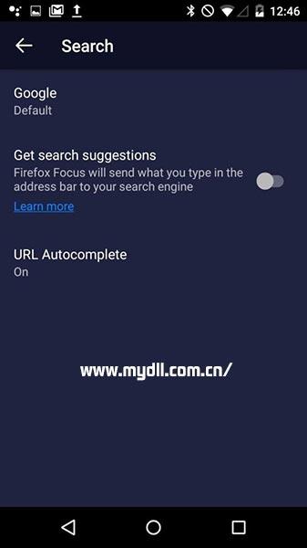 Firefox Focus搜索建议