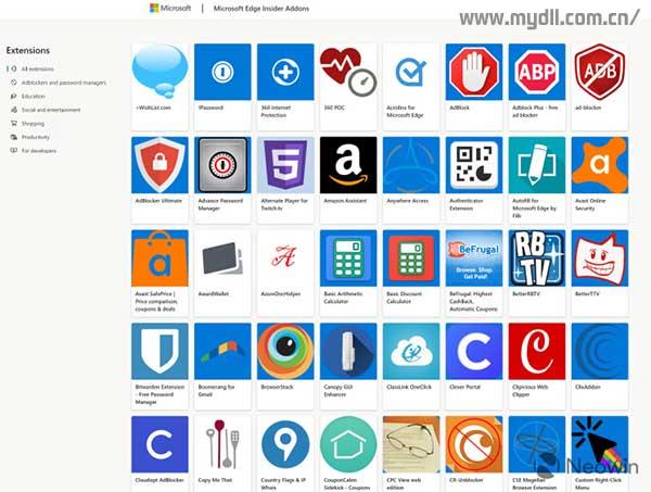 Edge浏览器应用商店