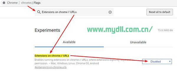 允许在URL栏里执行.crx扩展程序