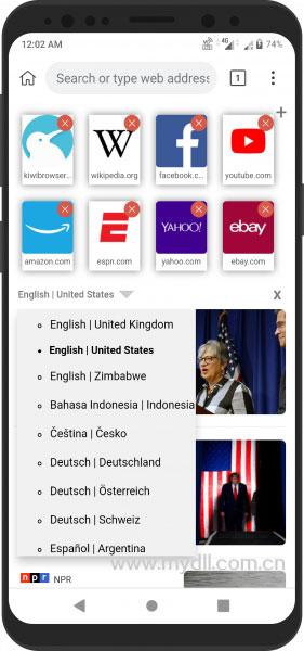 自定义Kiwi浏览器首页
