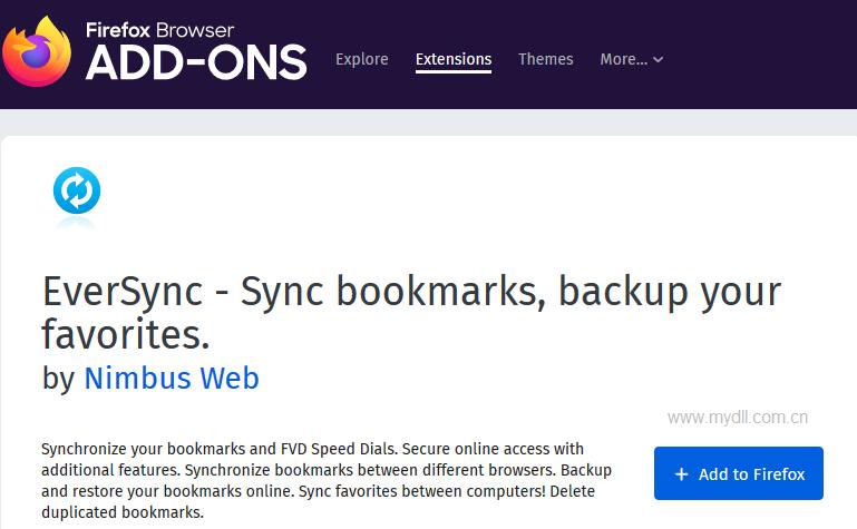 安装Eversync扩展插件